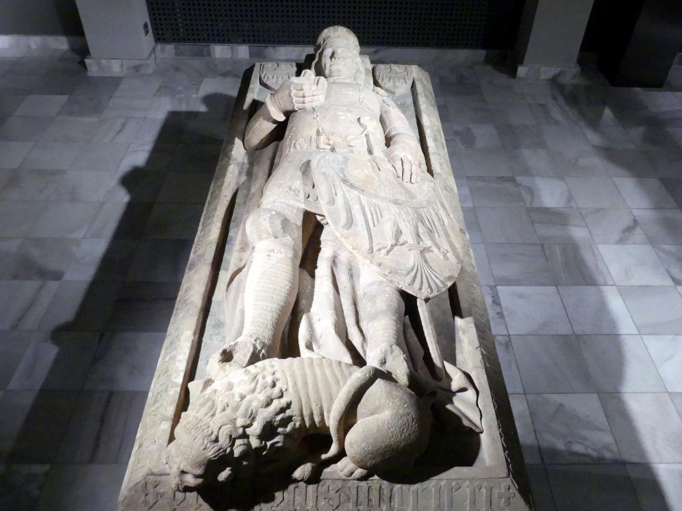 Grabplatte des Bolesław III. (1291-1352), Herzog von Brieg und Liegnitz, nach 1352