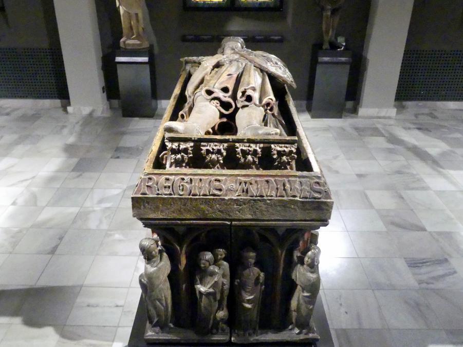 """Sarkophag des Heinrich IV. (""""der Gerechte"""") (um 1256 - 1290), Herzog von Breslau, um 1300 - 1320"""