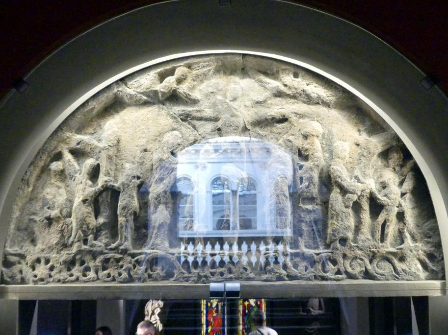Tympanon Kreuzabnahme Christi, Christi Himmelfahrt, Letztes Viertel 12. Jhd.
