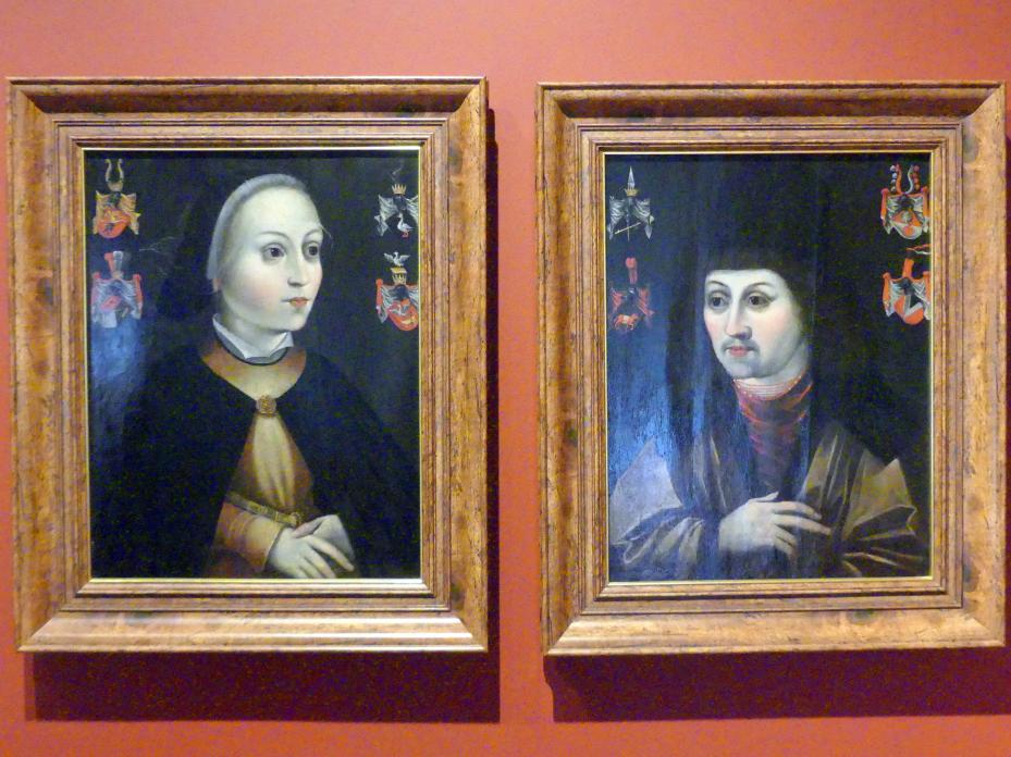 Porträts von Lorenz und Clara Heugel, um 1520