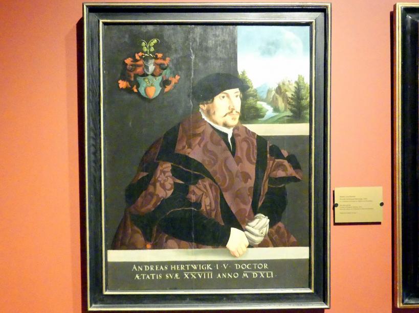 Porträt des Andreas Hertwigk, 1541