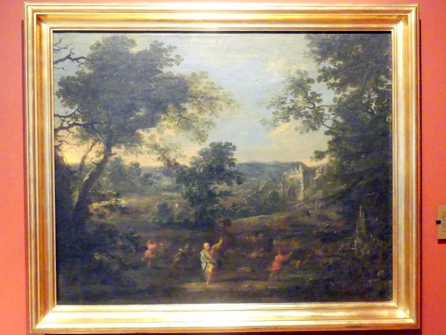 Michael Willmann: Landschaft mit dem Propheten Elischa, um 1675