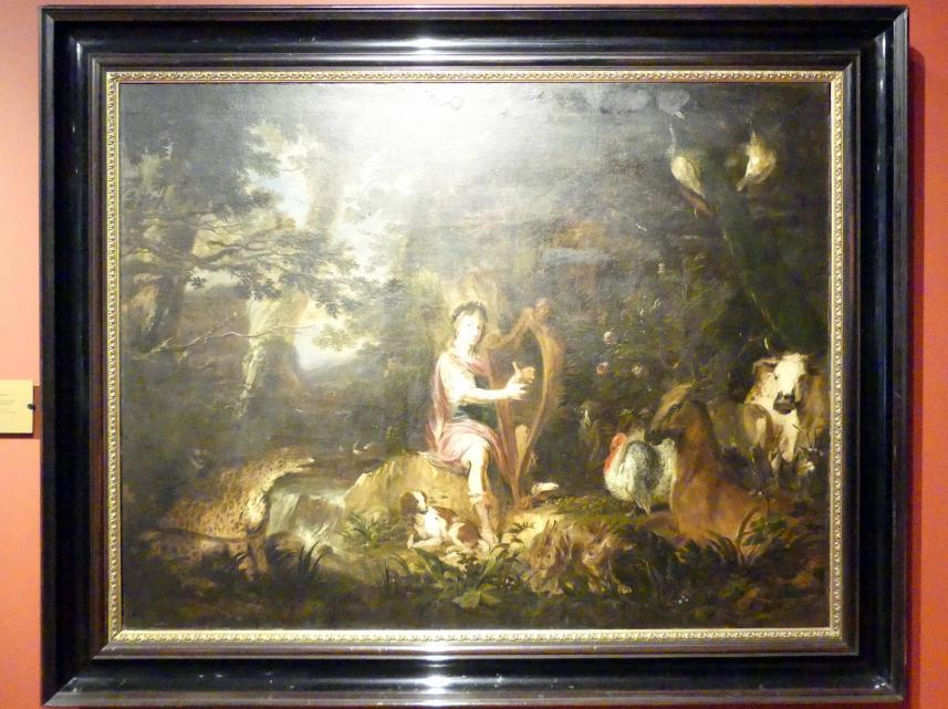 Michael Willmann: Orpheus bezaubert die Tiere, um 1670