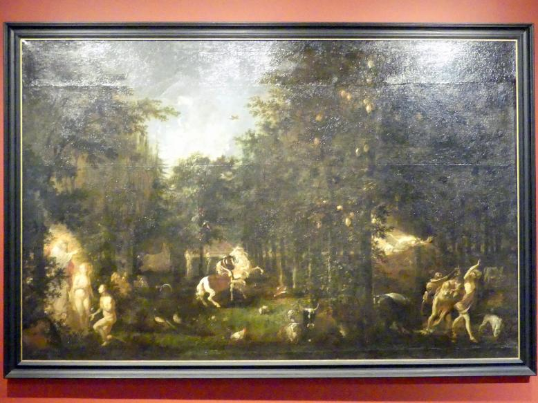 Michael Willmann: Garten Eden, Um 1670