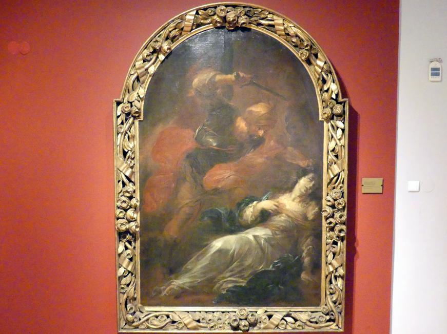 Michael Willmann: Tod der Heiligen Barbara, vor 1697