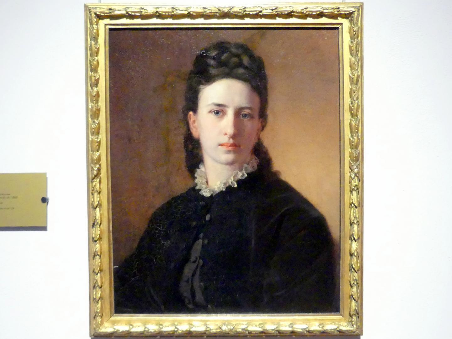 Otto Kreyher: Porträt von Frau Marsch, um 1860