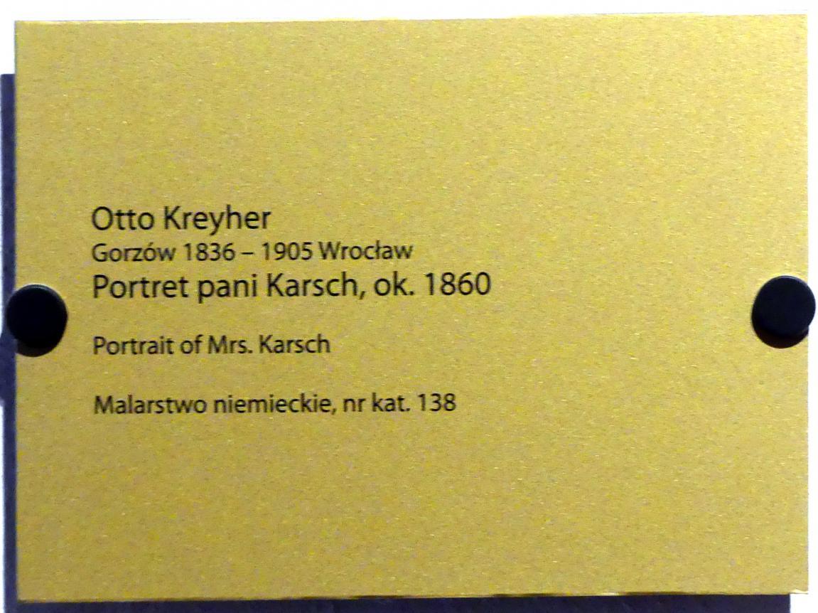 Otto Kreyher: Porträt von Frau Marsch, um 1860, Bild 2/2