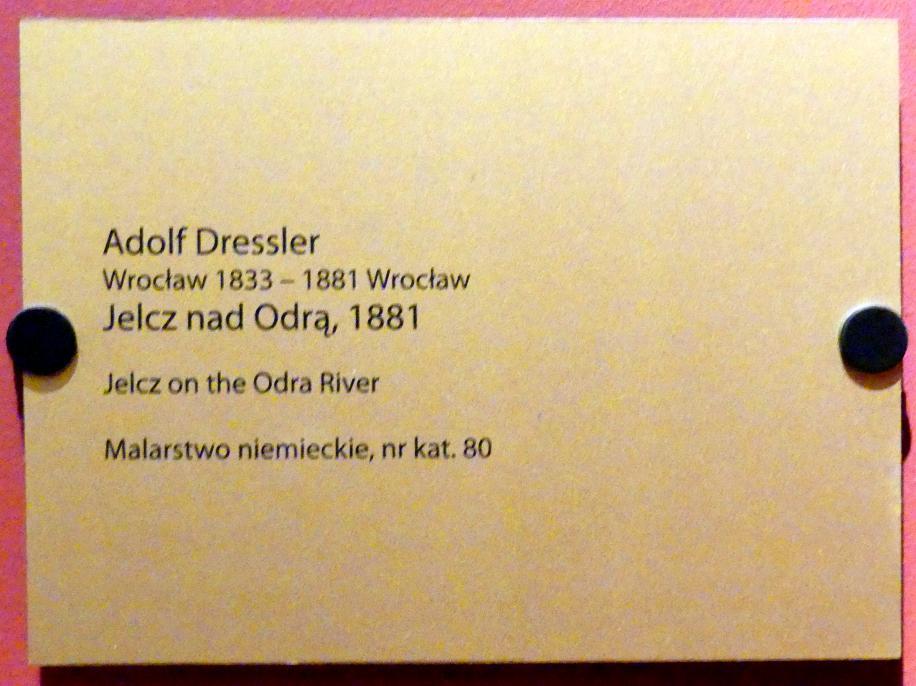 Adolf Dressler: Jelcz an der Oder, 1881, Bild 2/2
