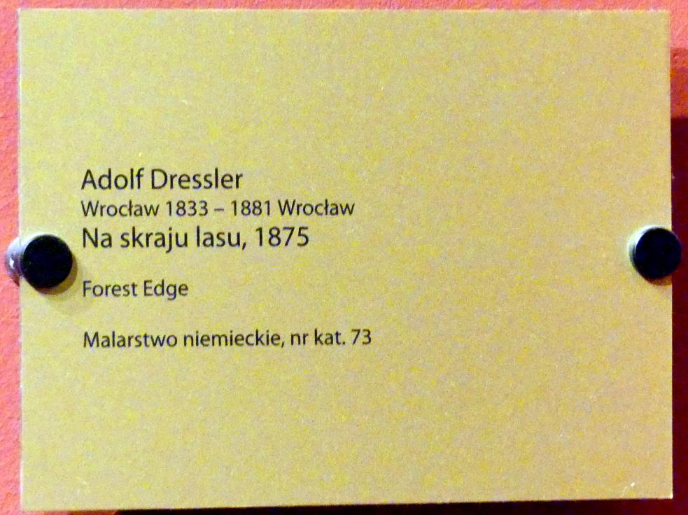 Adolf Dressler: Waldrand, 1875, Bild 2/2