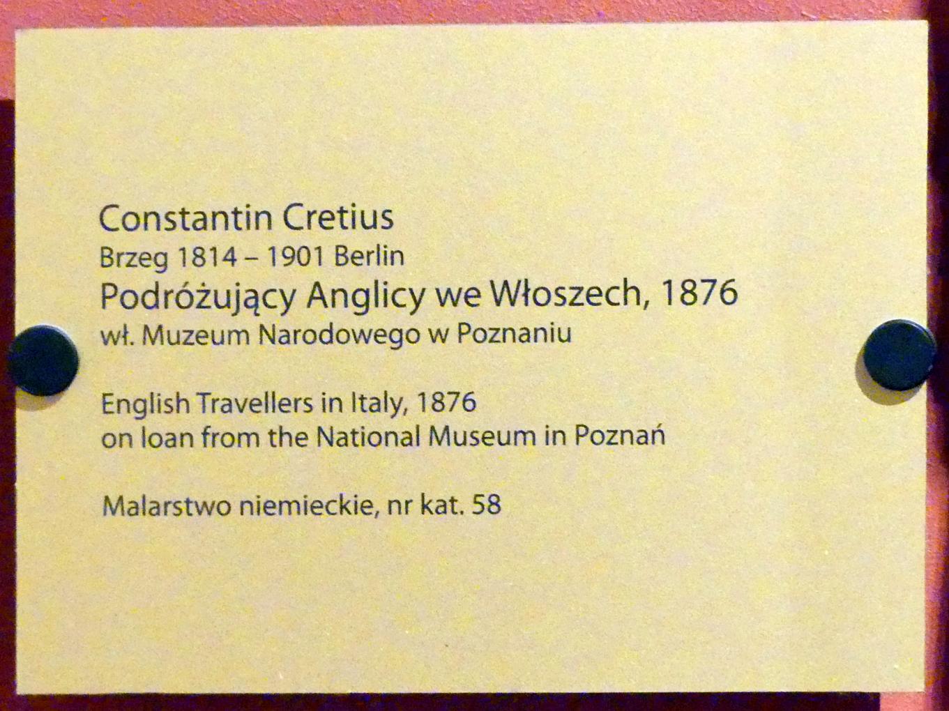 Konstantin Cretius: Englische Reisende in Italien, 1876, Bild 2/2