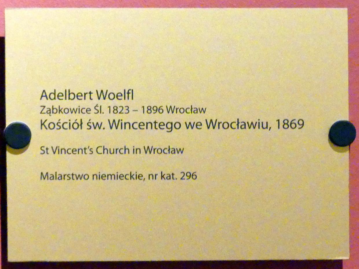 Adelbert Wölfl: Interieur der Kirche St. Vinzenz in Breslau, 1869, Bild 2/2
