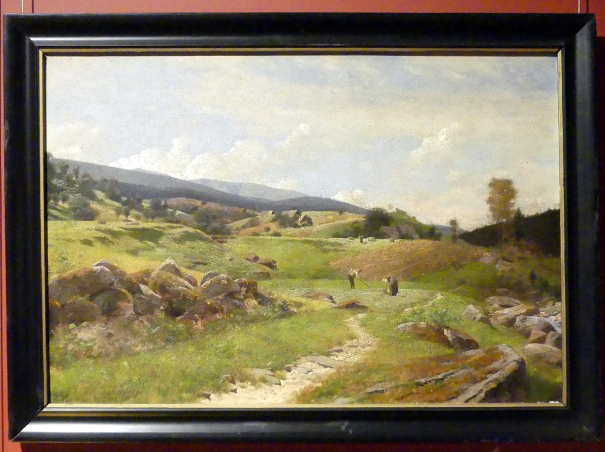 Erich Kubierschky: Landschaft bei Hain (Przesieka) im Frühling, 1891