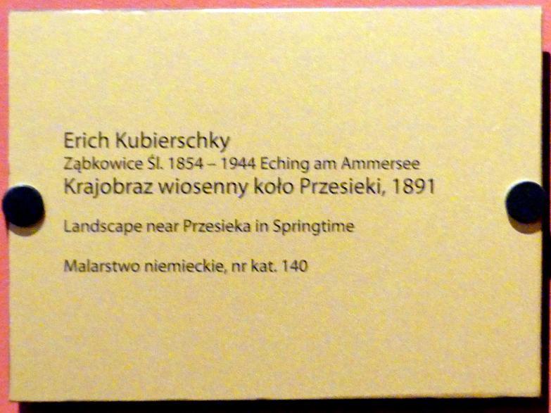 Erich Kubierschky: Landschaft bei Hain (Przesieka) im Frühling, 1891, Bild 2/2