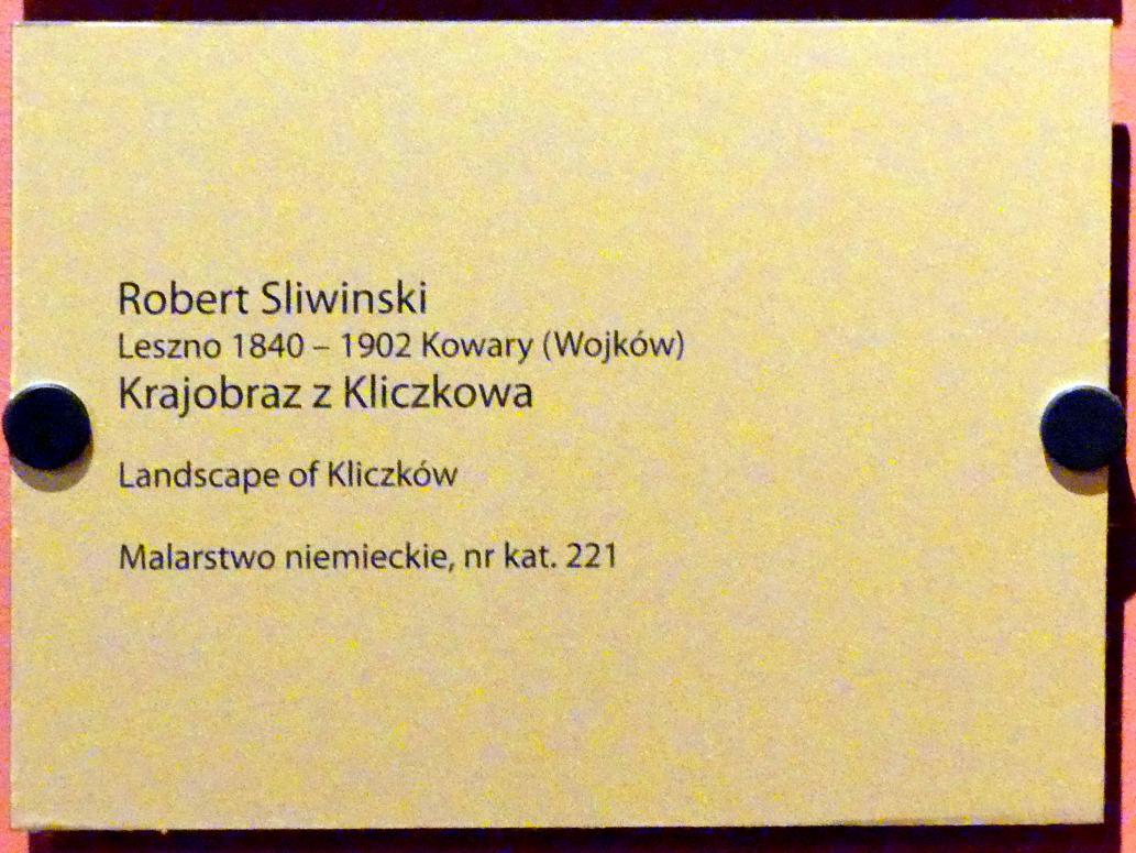 Robert Śliwiński: Landschaft bei Klitschdorf, Undatiert, Bild 2/2