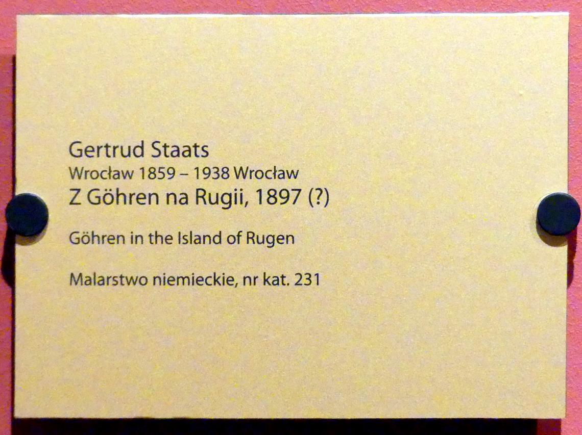 Gertrud Staats: Göhren auf Rügen, 1897, Bild 2/2
