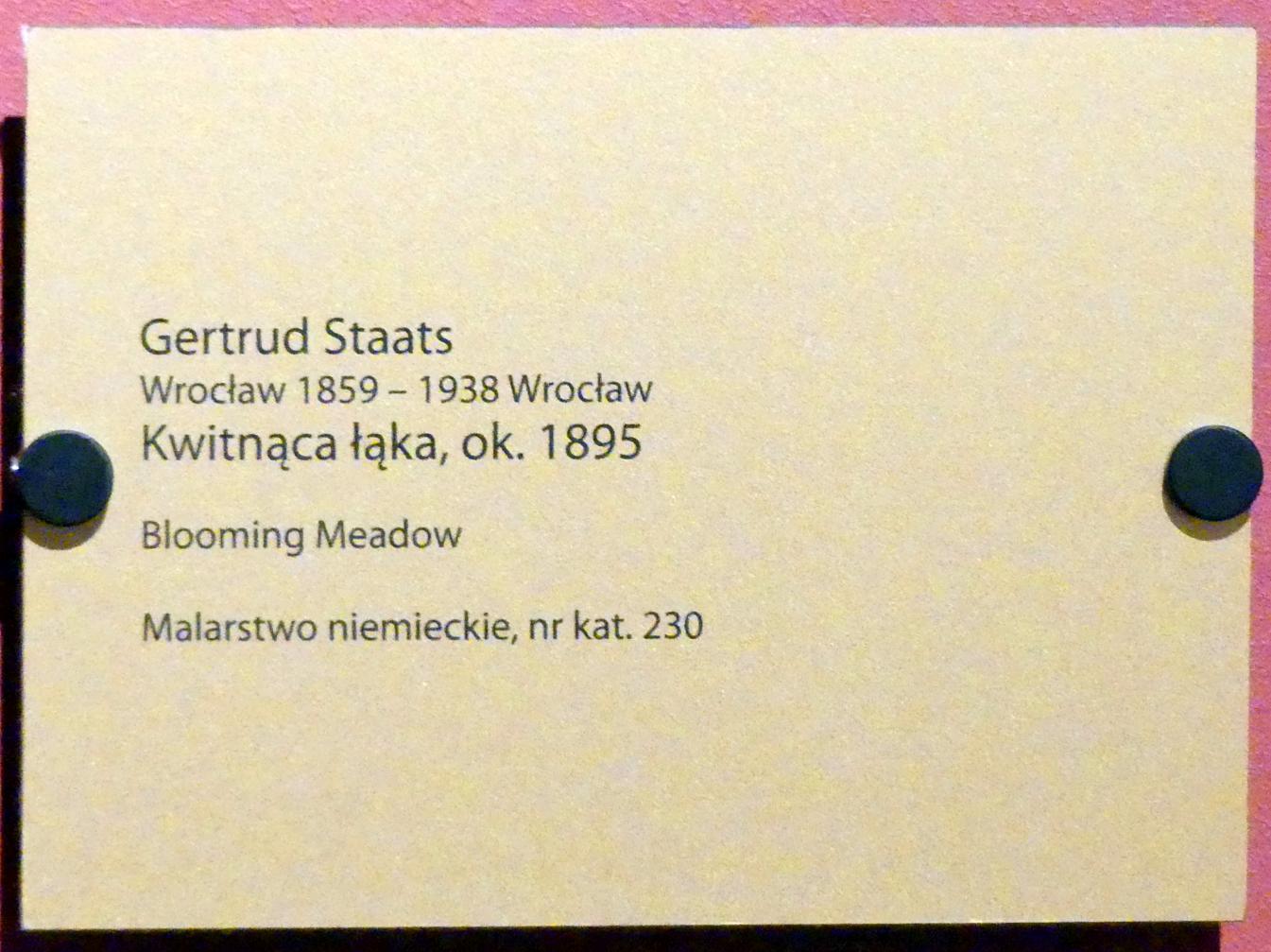 Gertrud Staats: Blühende Wiese, um 1895, Bild 2/2