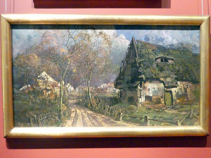 Eugen Burkert: Schlesisches Dorf, 1912