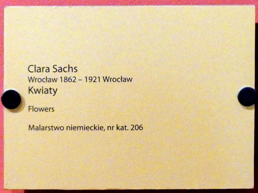 Clara Sachs: Blumen, Undatiert, Bild 2/2