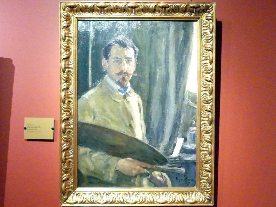 Eugene (Eugen) Spiro: Selbstporträt mit Palette, 1905