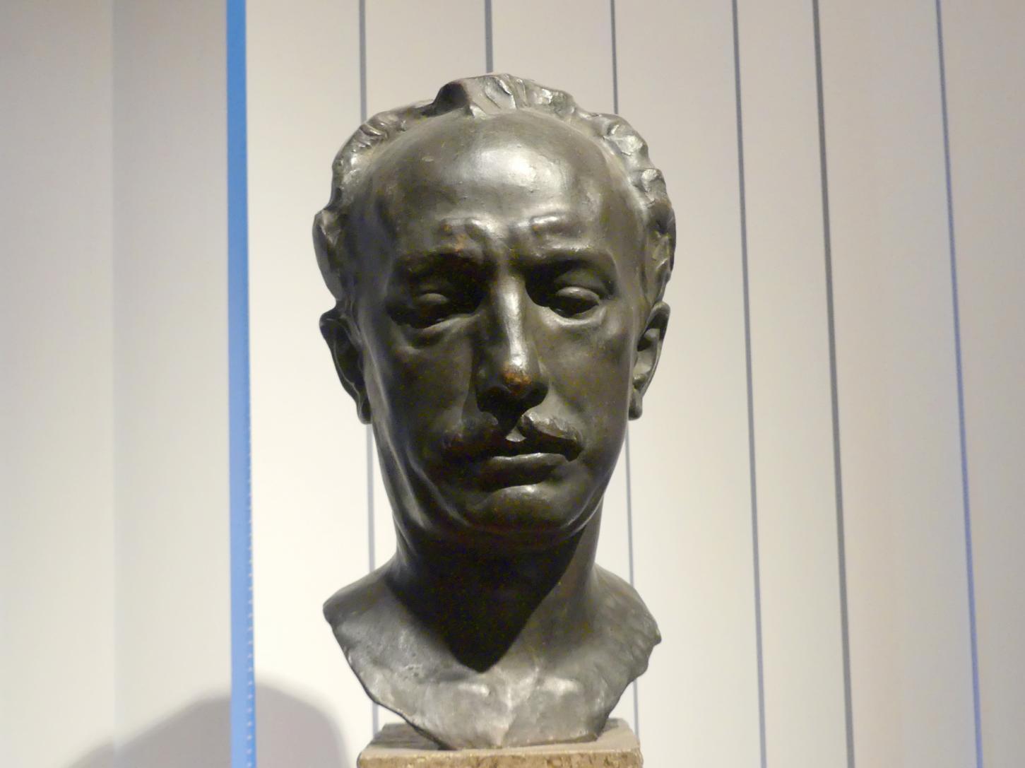 Hugo Lederer: Porträt des Richard Strauss (1864-1949), deutscher Komponist, 1908