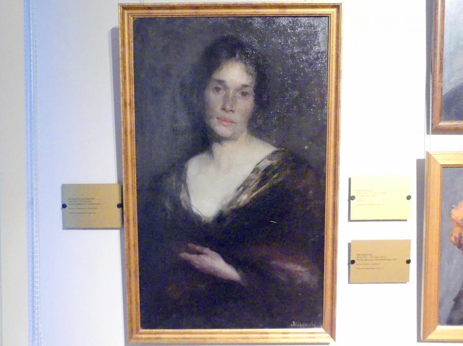 Margarete von Kurowski: Porträt einer Frau in schwarzem Kleid, Undatiert
