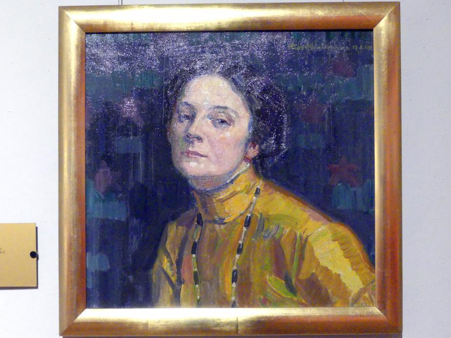 Max Wislicenus: Porträt der Wanda Bibrowicz (1878-1954), polnische Künstlerin, 1913