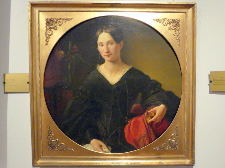August von Kloeber: Porträt einer Dame der Familie von Osten-Sacken, 1841