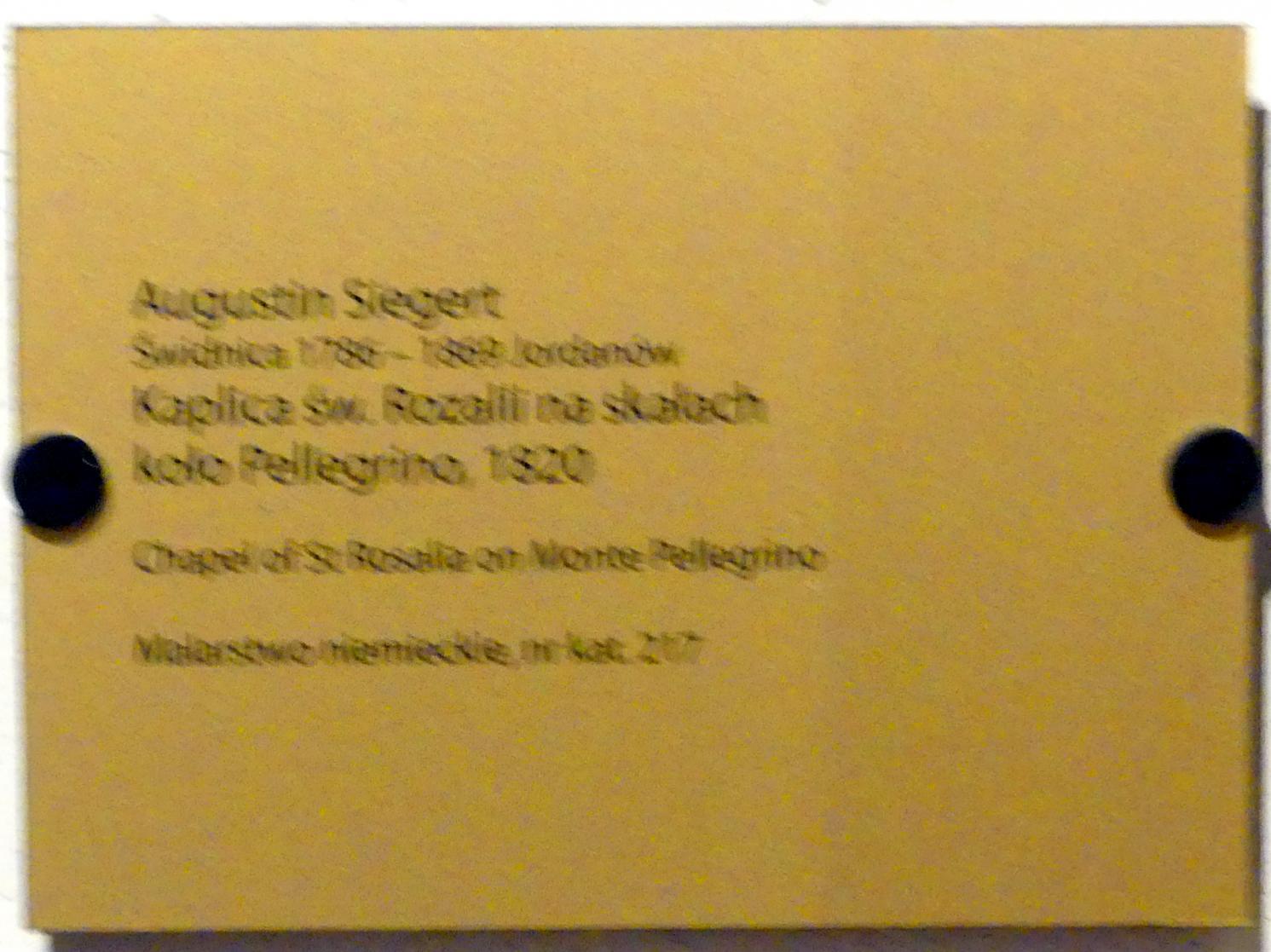 Augustin Siegert: Kapelle der Heiligen Rosalia auf dem Monte Pellegrino, 1820, Bild 2/2