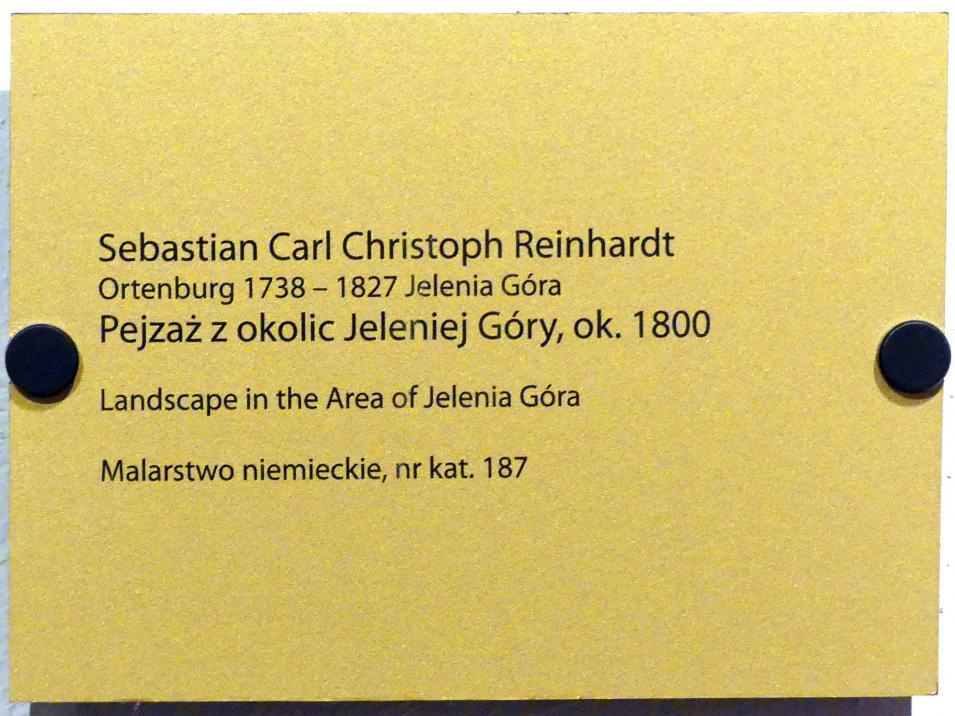 Sebastian Carl Christoph Reinhardt: Landschaft bei Hirschberg, um 1800, Bild 2/2