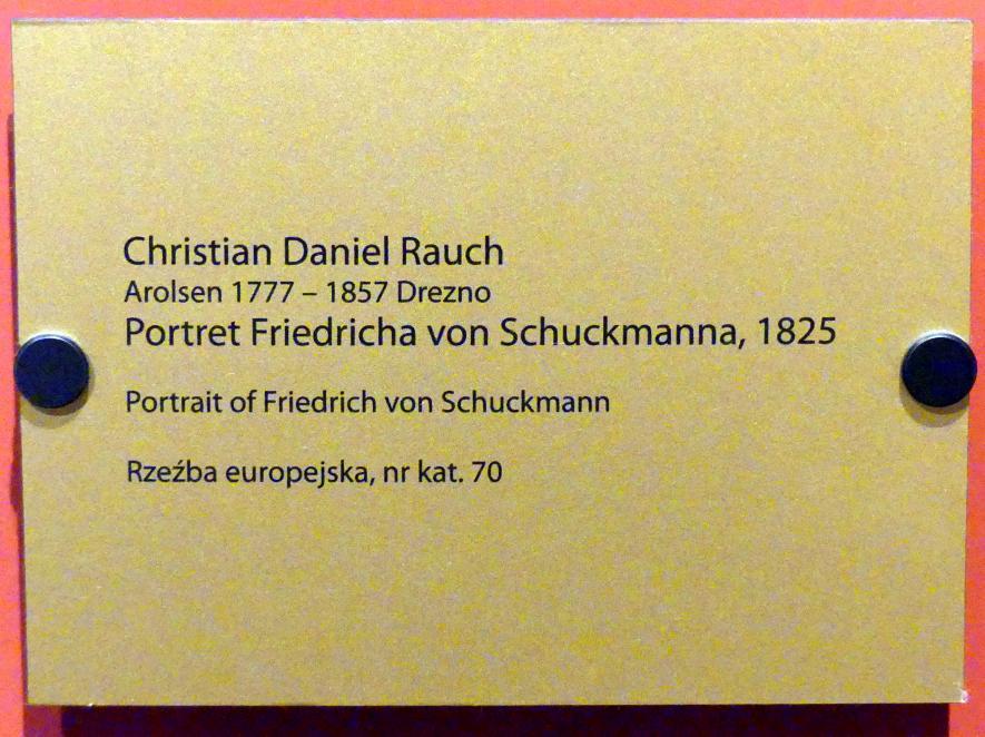 Christian Daniel Rauch: Porträt des Friedrich von Schuckmann (1755-1834), königlich preußischer Staatsminister des Innern, 1825, Bild 5/5