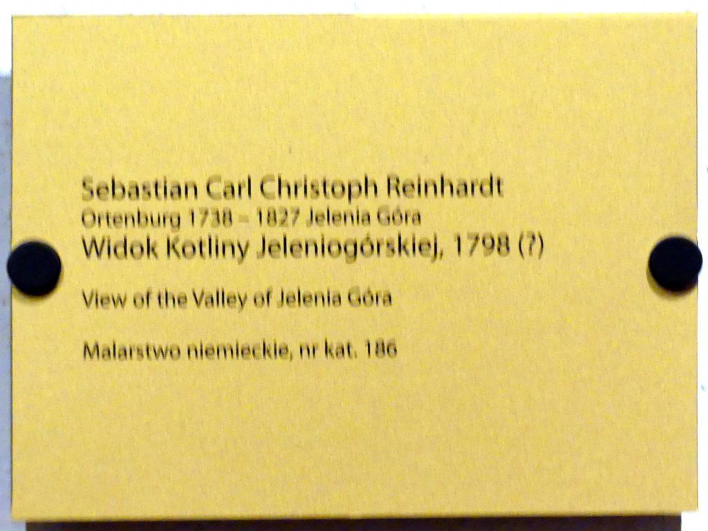 Sebastian Carl Christoph Reinhardt: Landschaft bei Hirschberg, 1798, Bild 2/2