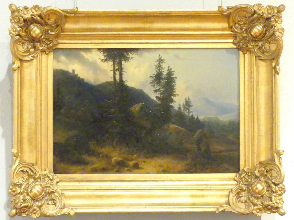 Balduin Wolff: Landschaft mit Kynastburg, 1845