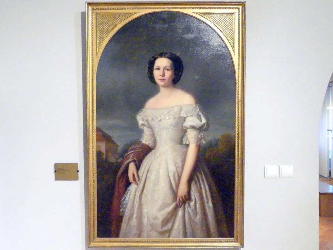 Ernst Resch: Bildnis der Elisabeth von Schroeter, 1856
