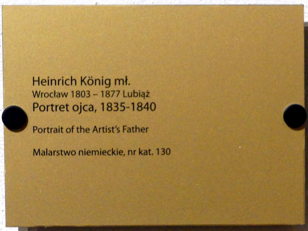 Heinrich König: Bildnis der Vaters des Künstlers, 1835 - 1840, Bild 2/2