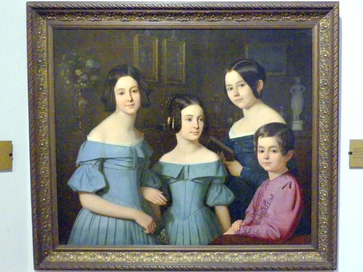 Ernst Resch: Mädchenporträt, 1839