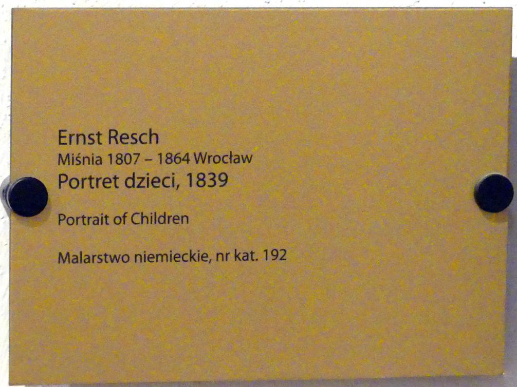 Ernst Resch: Mädchenporträt, 1839, Bild 2/2