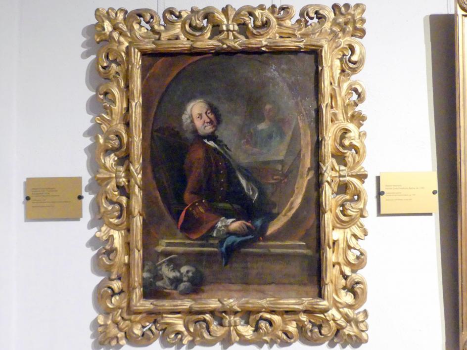 Johann Franz Hoffmann: Selbstporträt, 1759
