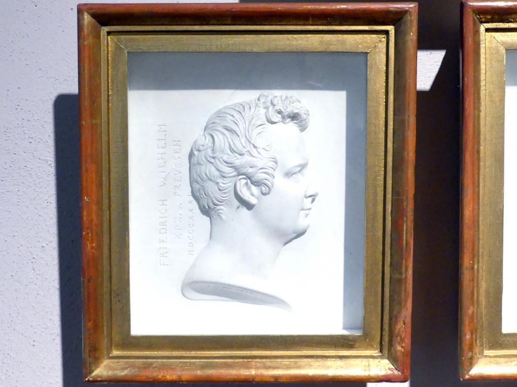Franz Woltreck: Porträt des Friedrich Wilhelm IV. (1795-1861), König von Preußen.(1840-1861), als Kronprinz, 1831