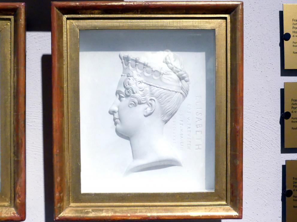 Franz Woltreck: Porträt der Elisabeth Ludovika von Bayern (1801-1873), Königin von Preußen (1840-1873), als Prinzessin, 1831
