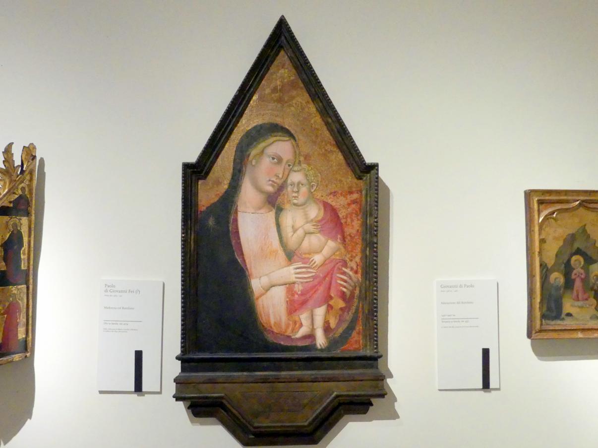 Paolo di Giovanni Fei: Maria mit Kind, Undatiert