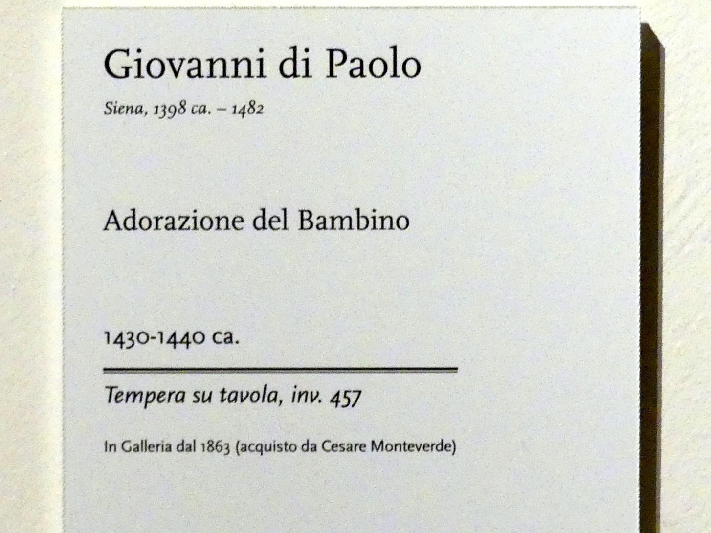 Giovanni di Paolo: Anbetung des Chrstkindes, um 1430 - 1440, Bild 2/2