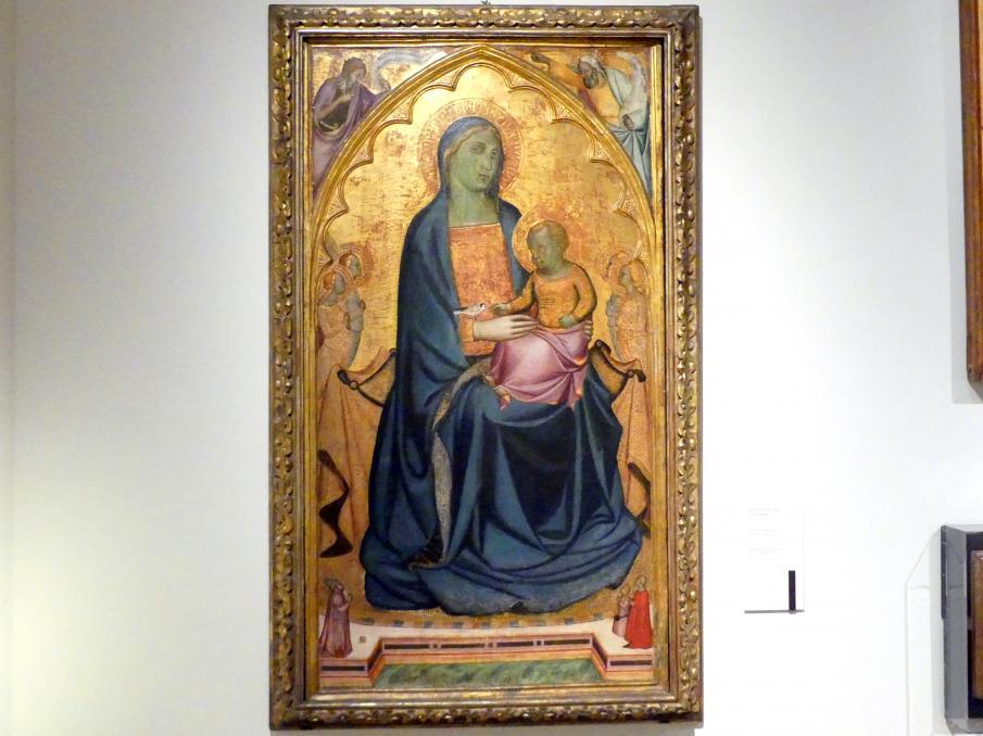 Francesco di Neri da Volterra: Maria mit Kind thront unter Engeln, Um 1350 - 1355