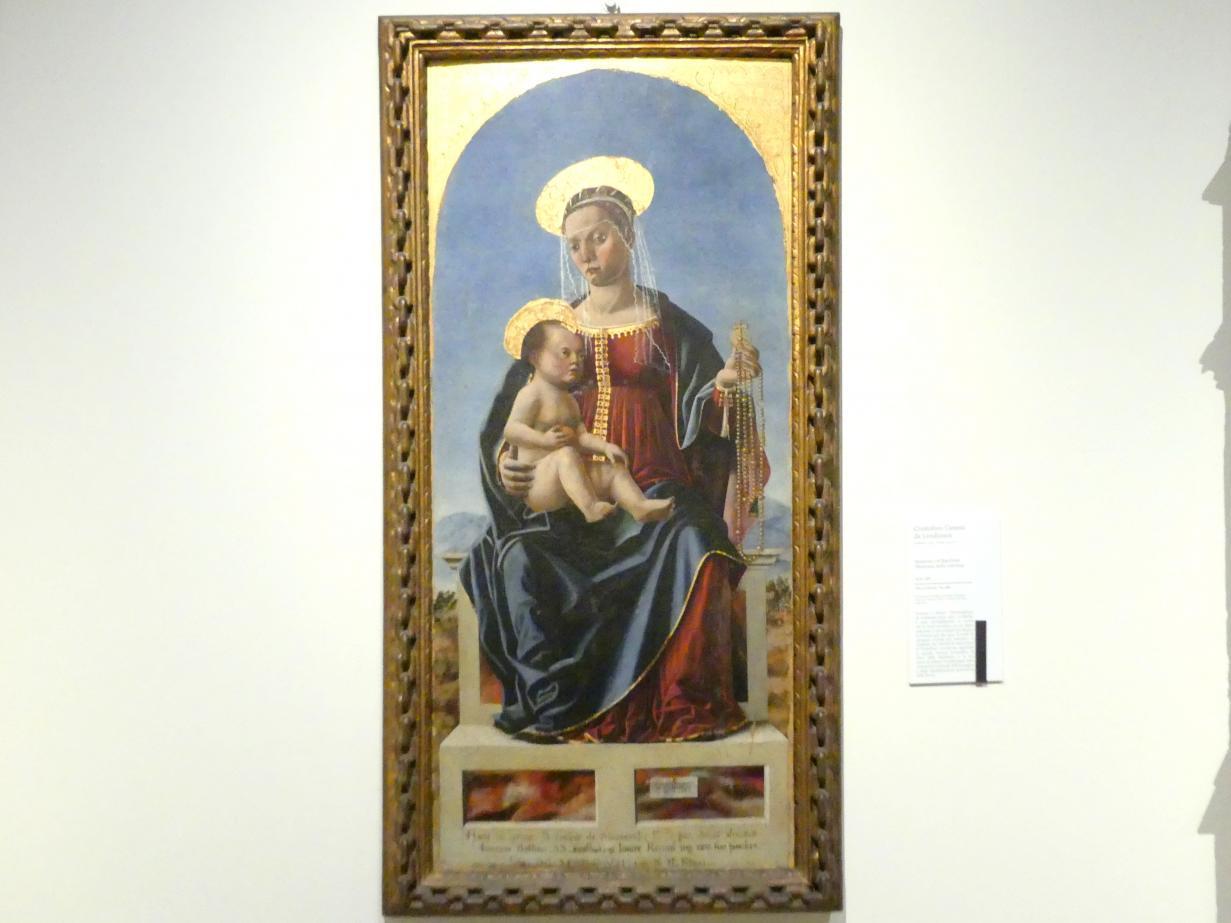 Cristoforo Canozi da Lendinara: Thronende Madonna mit Kind, 1479 - 1482