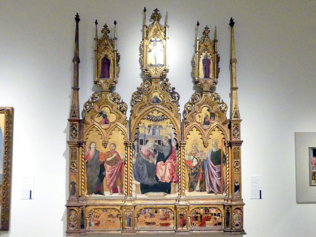Angelo degli Erri: Krönung Mariens und Heilige, 1462 - 1466