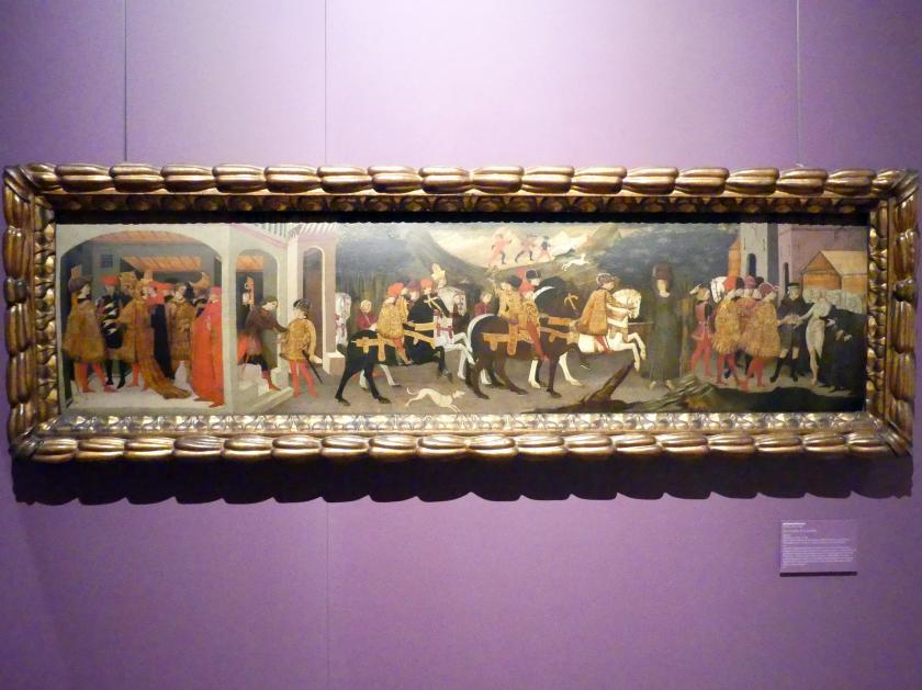 Apollonio di Giovanni: La novella di Griselda, um 1440, Bild 1/2