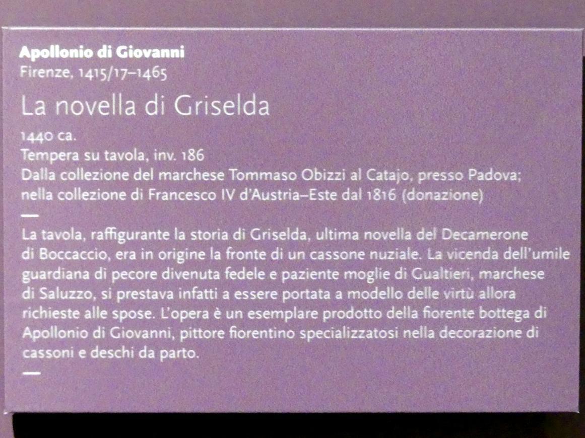 Apollonio di Giovanni: La novella di Griselda, um 1440, Bild 2/2