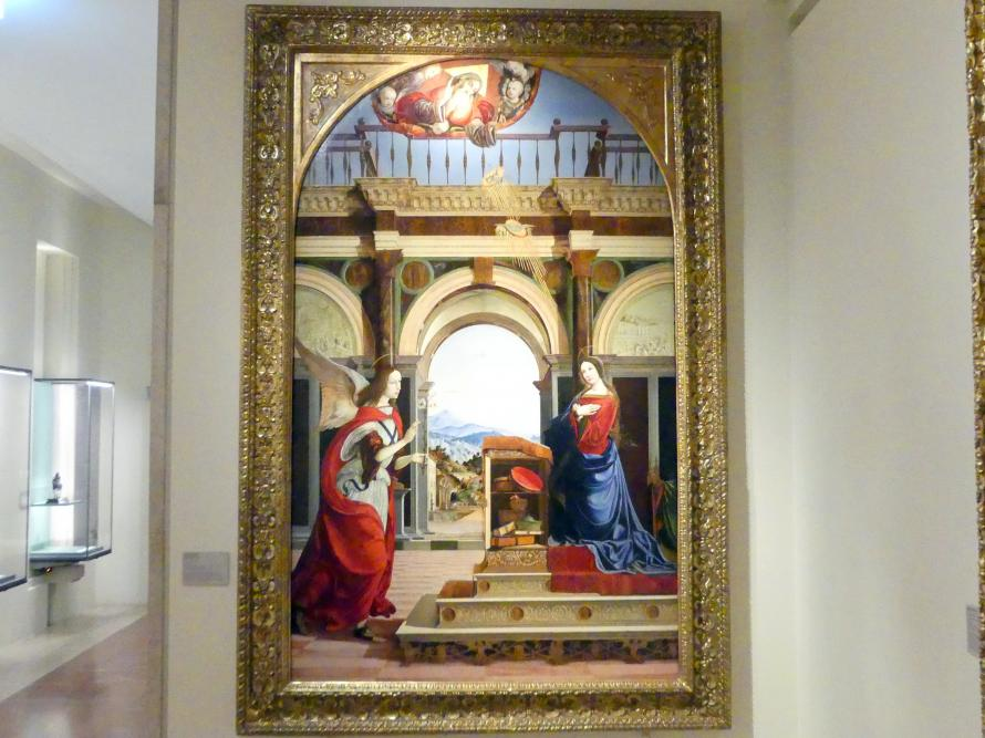 Francesco Bianchi Ferrari: Mariä Verkündigung, 1506 - 1512