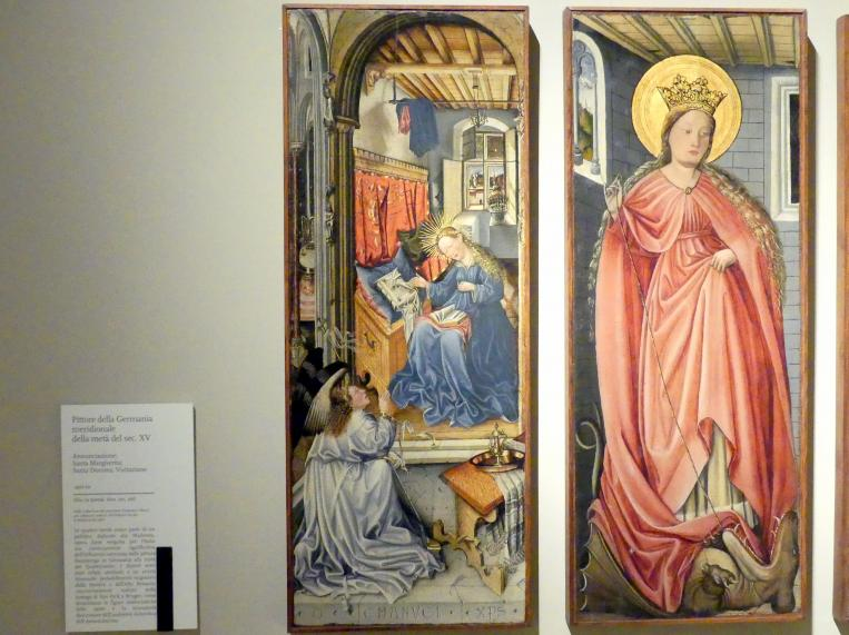 Fra Paolo da Pistoia (Paolo di Bernardino del Signoraccio): Verkündigung, Hl. Margarete, Hl. Dorothea, Heimsuchung, um 1450, Bild 2/6
