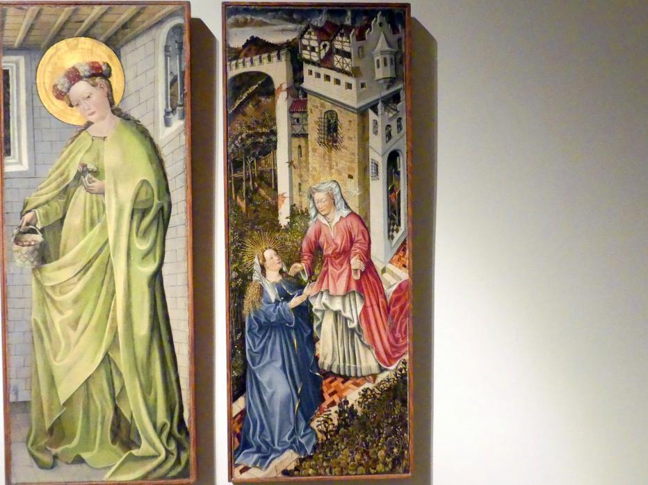Fra Paolo da Pistoia (Paolo di Bernardino del Signoraccio): Verkündigung, Hl. Margarete, Hl. Dorothea, Heimsuchung, um 1450, Bild 5/6