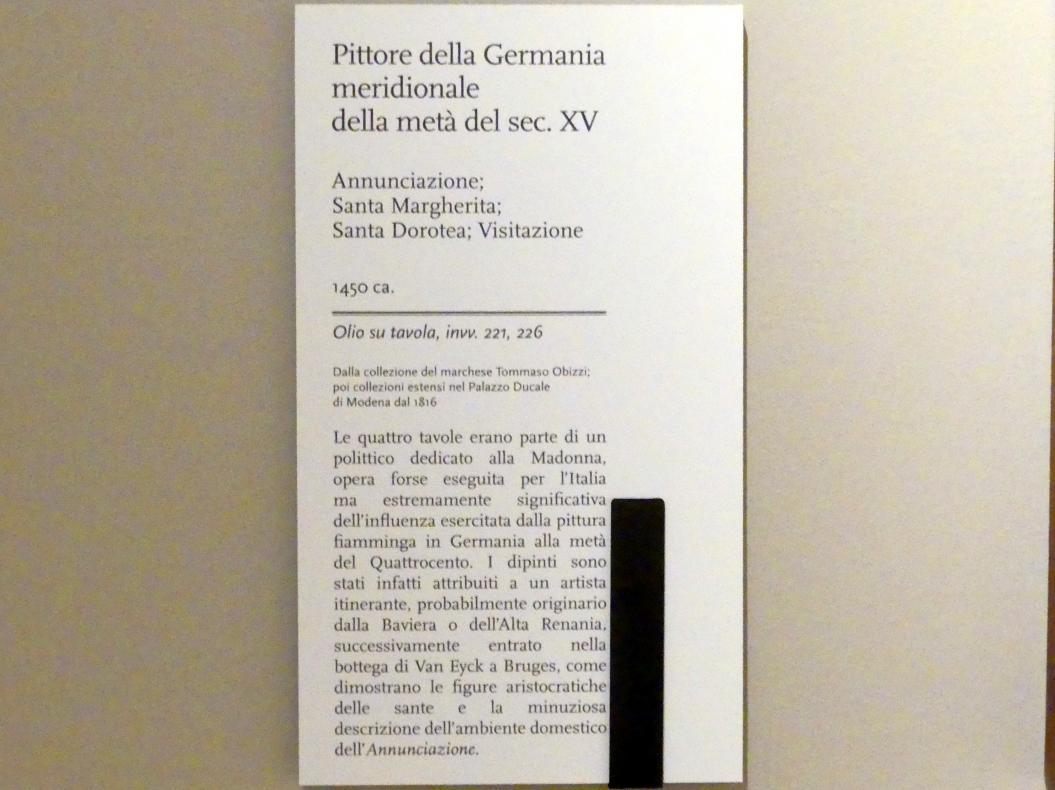 Fra Paolo da Pistoia (Paolo di Bernardino del Signoraccio): Verkündigung, Hl. Margarete, Hl. Dorothea, Heimsuchung, um 1450, Bild 6/6